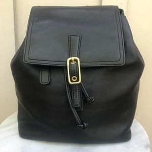 Coach Legacy Black Leather Small Backpack 9858 🎒
